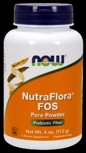Nutra Flora FOS Vegetarian Formula (4 oz) NOW Foods