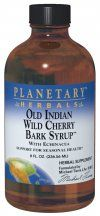 Old Indian Wild Cherry Bark Syrup (8 fl oz) Planetary Herbals