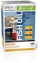 Omega-3 Fish Oil | High Potency (120 softgels)* NutraOrigin