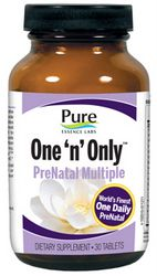 One N Only PreNatal Multivitamin (30 tabs)* Pure Essence Labs