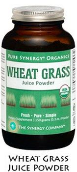 Organic Wheat Grass Juice Powder (150 gr)* The Synergy Company