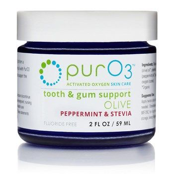 Ozonated Olive Oil for Tooth and Gum Support (Peppermint and Stevia 2 oz) purO3