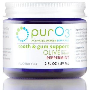 Ozonated Olive Oil with Hemp for Tooth and Gum Support (Peppermint 2 oz) purO3
