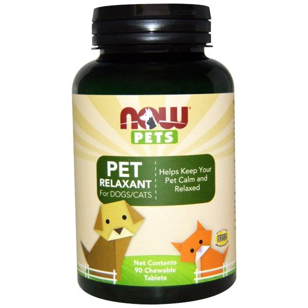 Pet Relaxant for Dogs and Cats (90 chewable tabs) NOW Foods