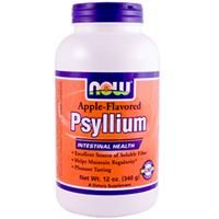 Psyllium Fiber (Apple Flavor 12 oz) NOW Foods
