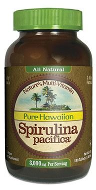 Pure Hawaiian Spirulina (1000mg) 180 tablets)* Nutrex Hawaii