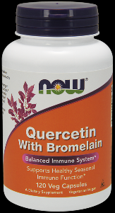 Quercetin with Bromelain (120 vcaps) NOW Foods