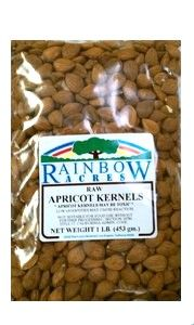 Raw Apricot Kernels, 1 lb Rainbow Acres
