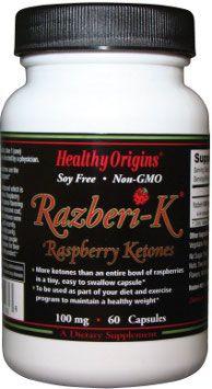 Razberi-K Raspberry Ketone (100 mg, 60 capsules) Healthy Origins