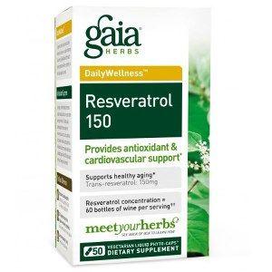 Resveratrol-150 (50 phyto-caps)* GAIA Herbs
