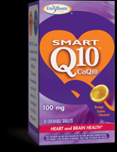 SMART Q10 - CoQ10 100 mg (Orange Cream 30 chew tabs) Enzymatic Therapy