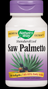 Saw Palmetto, Standardized (60 caps) Nature's Way