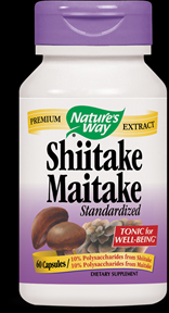 Shiitake Maitake, Standardized (60 caps)* Nature's Way