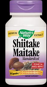 Shiitake Maitake, Standardized (60 caps) Nature's Way