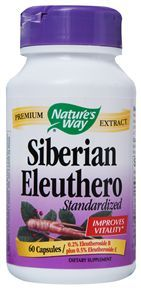 Siberian Eleuthero Standardized (60 capsules) Nature's Way