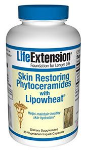 Skin Restoring Phytoceramides with Lipowheat (30 veggie liquid caps)* Life Extension