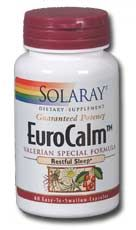 EuroCalm Valerian Root (200 mg, 60 caps) Solaray Vitamins