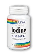 Iodine | 500mcg of Potassium Iodide (30 caps) Solaray Vitamins