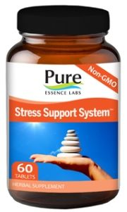 Stress - 4 Way Support System (60 tabs)* Pure Essence Labs