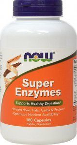 Super Enzyme Caps (180 caps) NOW Foods