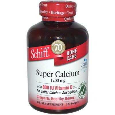 Super Calcium (1200 mg 120 soft gels) Schiff