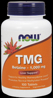 TMG, Trimethylglycine (1,000 mg 100 Tabs) NOW Foods