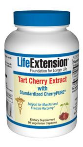 Tart Cherry Extract with Standardized CherryPURE (60 vcaps)* Life Extension