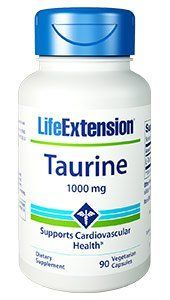 Taurine (1000 mg 90 vcaps Life Extension