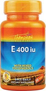 Vitamin E 400 IU (60 softgels) with Mixed Tocopherols Thompson