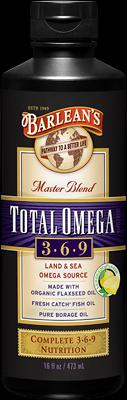 Total Omega 3-6-9 (Lemonade -16 oz) Barleans Organic Oils