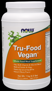 Tru Food Whole Food Vegan Meal (1.05kg Berry flavor) NOW Foods