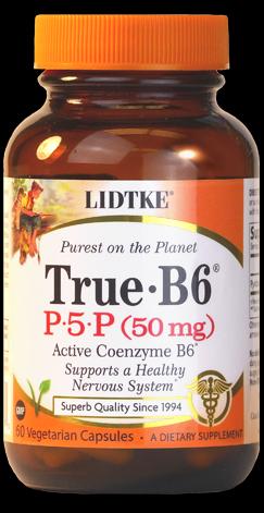 True-B6, Pyridoxal 5-Phosphate (60 capsules)* Lidtke