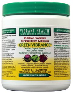 Green Vibrance* (6.1 oz - 15 day supply) Vibrant Health