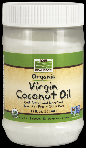 Virgin Coconut Oil -Organic (12 Oz) NOW Foods