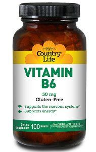Vitamin B-6 (50 mg 100 Tablet) Country Life