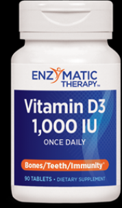 Vitamin D3 1000 IU (90 tabs) Enzymatic Therapy
