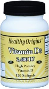 Vitamin D 2400 IU (120 Gels) Healthy Origins