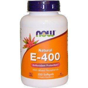 Vitamin E-400 IU (Mixed Tocopherols (250 Softgels) NOW Foods