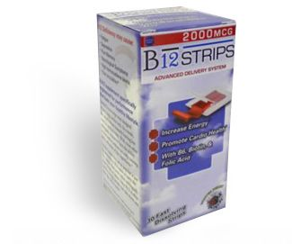 B12 Strips (2000 mcg, 30 fast dissolve strips) Essential Source