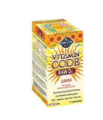 Vitamin Code RAW D3 (2000 IU 120 Capsules)* Garden of Life