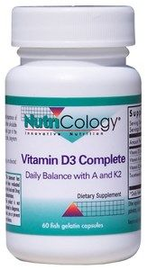 Vitamin D3 Complete Daily Balance (60 caps)* NutriCology