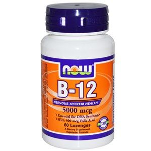 Vitamin B-12 5000mcg (60 Lozenges) NOW Foods