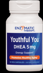 Youthful You DHEA 5mg (60 veg caps) Enzymatic Therapy