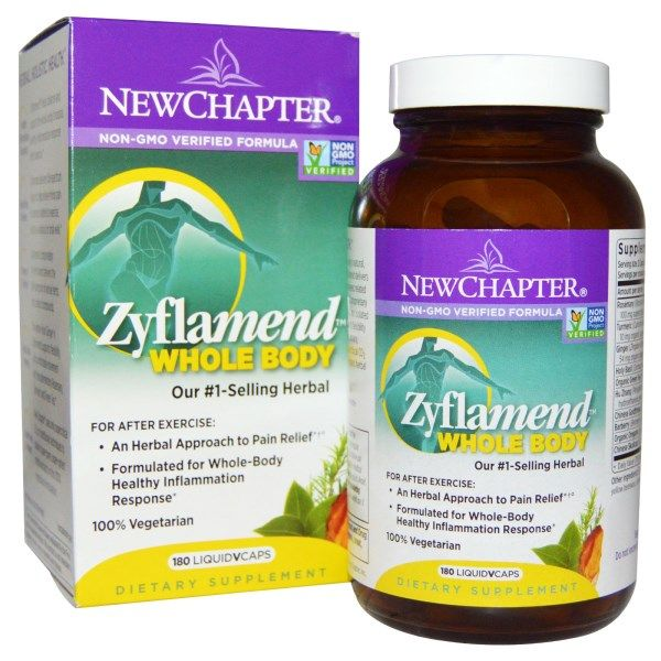 Zyflamend Whole Body (180 Vegetarian Caps)* New Chapter Nutrition