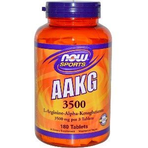 AAKG 3500 (180 Tabs) NOW Foods