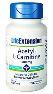 Acetyl-L-Carnitine (500 mg, 100 vcaps)* Life Extension