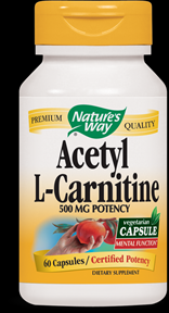 Acetyl L-Carnitine (60 Vcaps)* Nature's Way