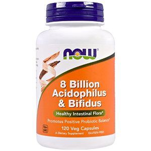 Acidophilus/Bifidus 8 Billion (120 Caps) NOW Foods