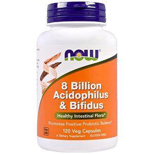 Acidophilus/Bifidus 8 Billion (120 Caps) NOW Foods