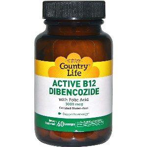 Active B-12 Dibencozide (60 lozenge) Country Life